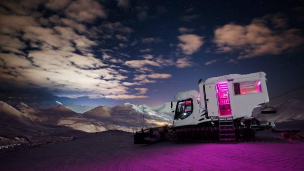 Romantisch overnachten in een snowcat? In La Plagne is het mogelijk!
